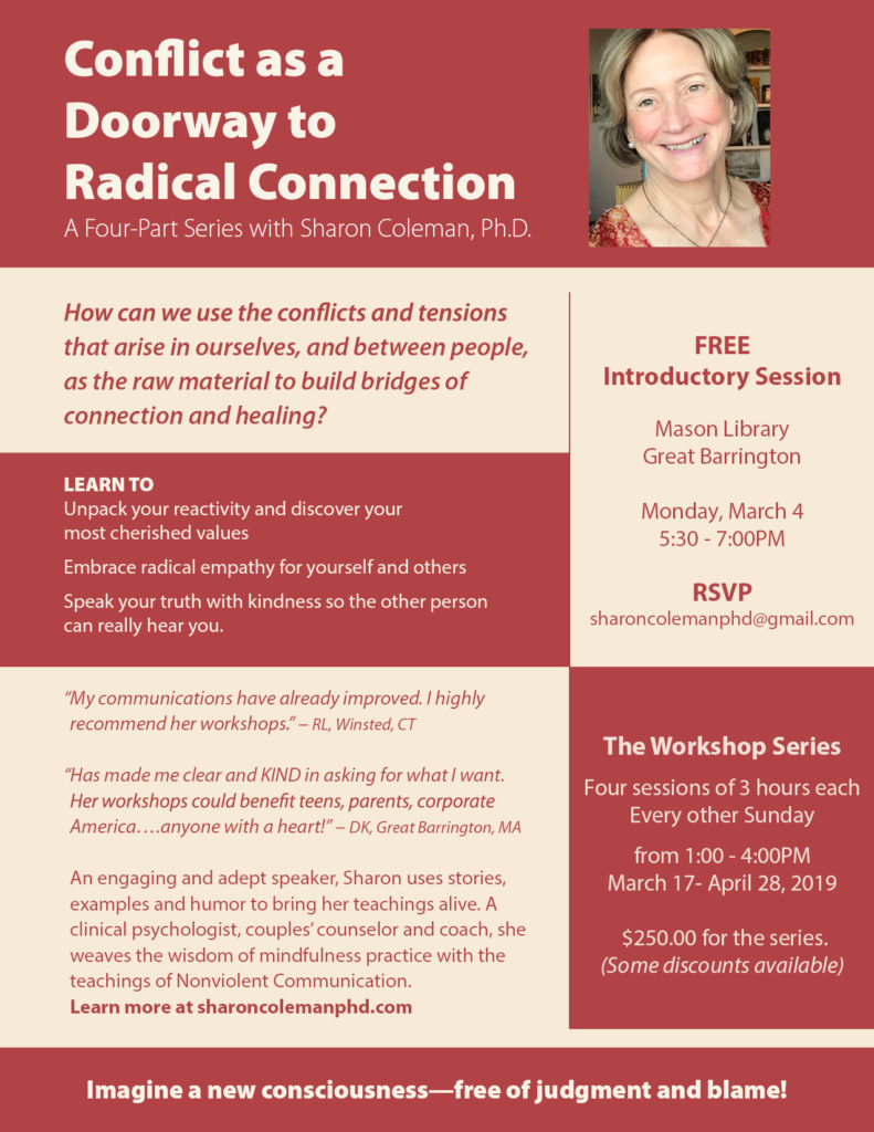 Conflict as a Doorway to Radical Connection 2019